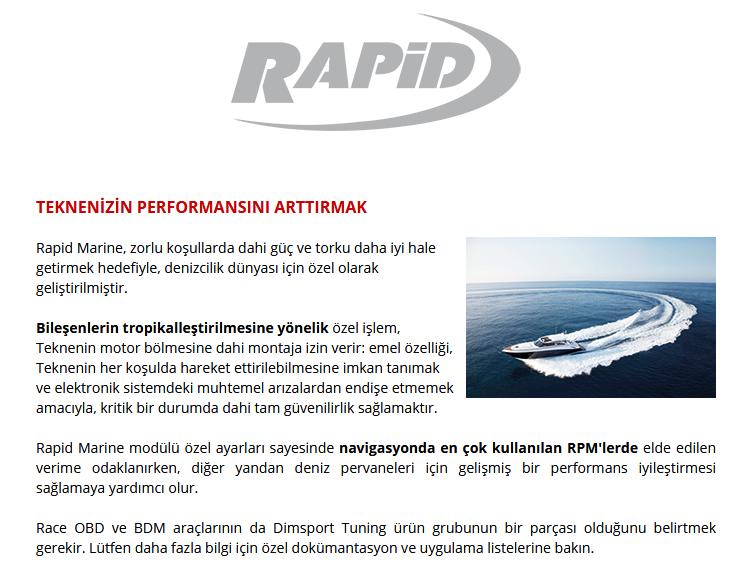 rapid marine ile tüm deniz araçlarında performans